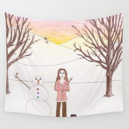 Why Aren't You Here Wall Tapestry