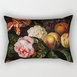 "Ernst Stuven ""Still-life with peaches"" Rectangular Pillow"