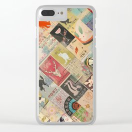 Vintage Japanese matchbox collage Clear iPhone Case