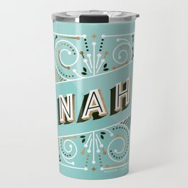 Nah – Mint & Rose Gold Palette Travel Mug