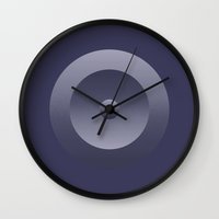 shield Wall Clocks featuring Shield by Robert Cooper