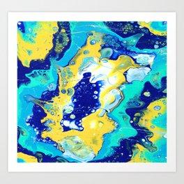 Paint Swirl Art Print