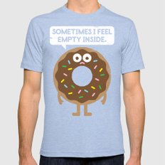 It's Not All Rainbow Sprinkles... Tri-Blue Mens Fitted Tee SMALL
