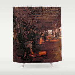 Shell Forge at National Projectile Factory Hackney Marshes London Shower Curtain