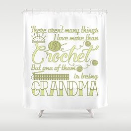 Crochet Grandma Shower Curtain
