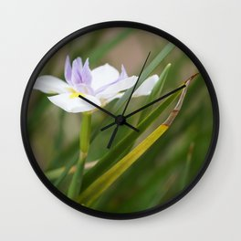White Flower Photo Wall Clock