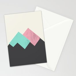 Pastel Mountains I Stationery Cards