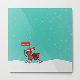 Busy Ant.Merry christmas Metal Print