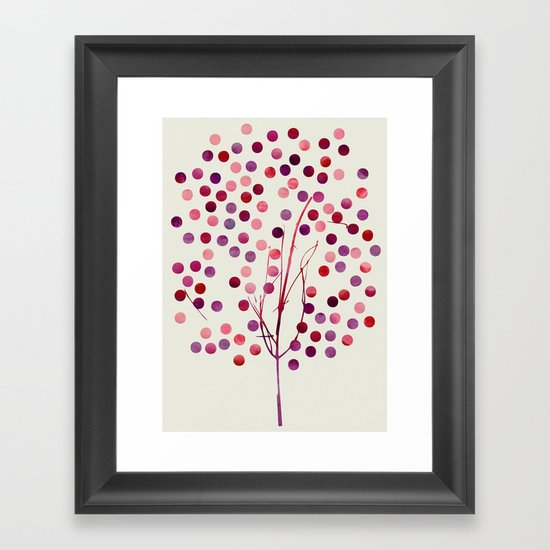 Tree of Life_Berry by Jacqueline & Garima Framed Art Print