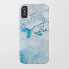 blue wall iPhone X Slim Case