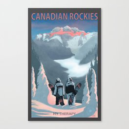 Snow Board Therapy Canvas Print