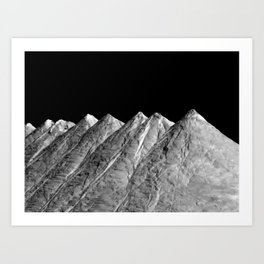 Salt Mountains Art Print
