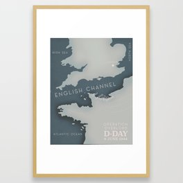 D-Day Operation overlord Military poster Framed Art Print