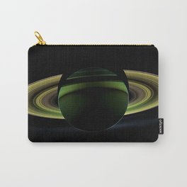 Dark Side of Saturn Space Mission Fly-by Telescopic Photograph Carry-All Pouch