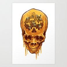 skull of honey Art Print