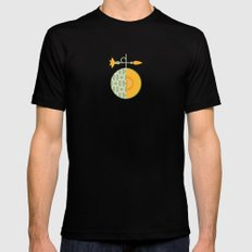 Fruit: Cantaloupe Mens Fitted Tee Black MEDIUM