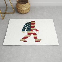 Bigfoot american flag Rug