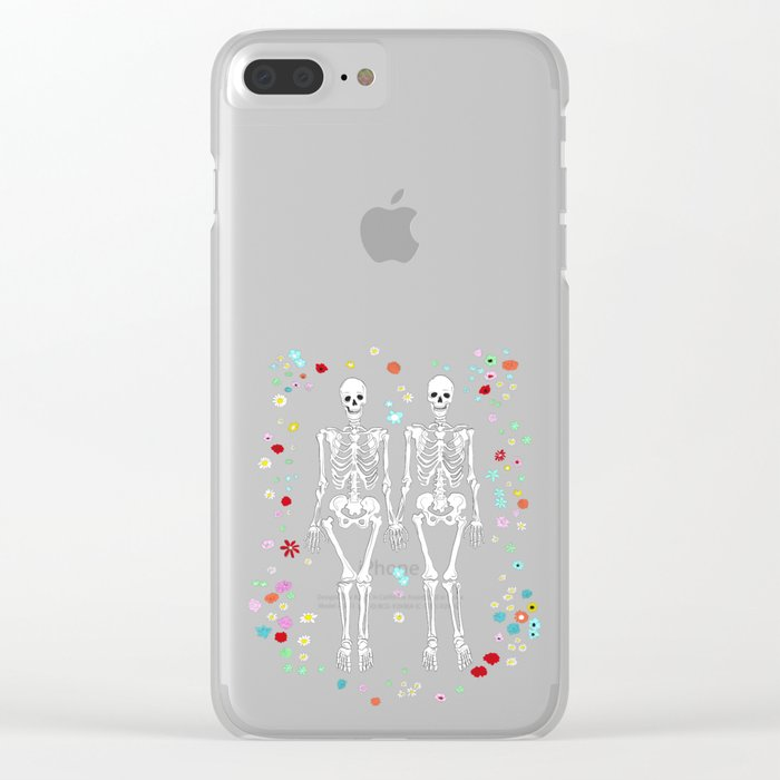 together forever pink background Clear iPhone Case