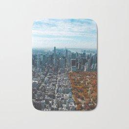 Central Park New York City Skyline Bath Mat