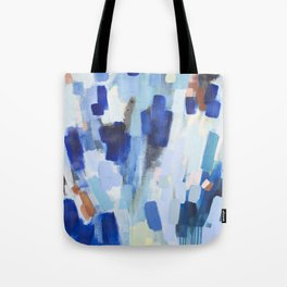Blues - abstract art Tote Bag