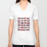 records V-neck T-shirts featuring Nobody's records by kubizm