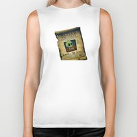 murray Biker Tanks featuring Monkey Island - WANTED! Murray, the Skull by Sberla