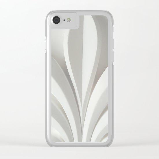 White sculpture Clear iPhone Case