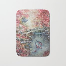 Autumn Morning (Watercolor painting) Bath Mat