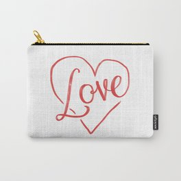 Love Heart Lettering Carry-All Pouch