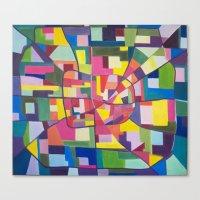 houston Canvas Prints featuring Houston by EmilyWhittemore