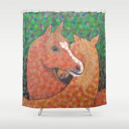 Horse Hug Shower Curtain