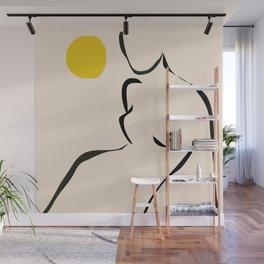 abstract minimal nude Wall Mural