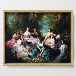 "Franz Xaver Winterhalter's masterpiece ""The Empress Eugenie surrounded by her Ladies in waiting"" Serving Tray"
