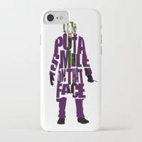 the joker iPhone & iPod Cases featuring Joker by Ayse Deniz