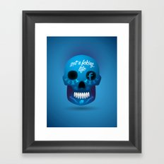 Get fcking life Framed Art Print