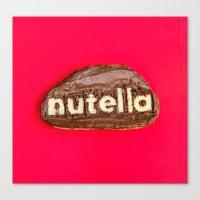 nutella Canvas Prints featuring Nutella by Dan Cretu