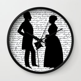 Pride and Prejudice design - White Wall Clock
