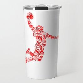 Basketball RED Travel Mug