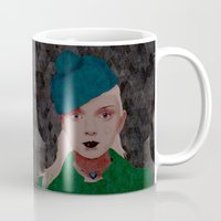 noir Mugs featuring Noir by Eveline