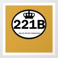 221b Art Prints featuring 221B by Lugonbe