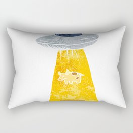 Cow Abduction. Rectangular Pillow
