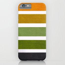 Olive Green & Hazel Brown Geometric Pattern iPhone Case