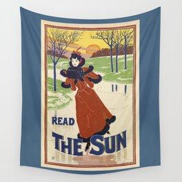 Vintage Winter 1896 women fashion Wall Tapestry