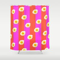 egg Shower Curtains featuring Egg Dreams by Tyler Spangler