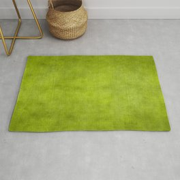 """Summer Fresh Green Garden Burlap Texture"" Rug"