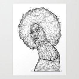 Black Mina Art Print