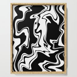 Stripes, distorted 7 Serving Tray