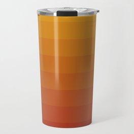 Gradient, Yellow Red Travel Mug