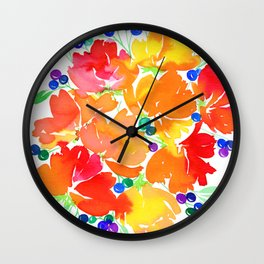 Rainbow Bouquet Wall Clock