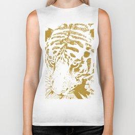 Golden tiger Biker Tank